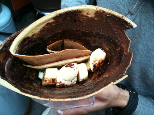 香蕉巧克力可麗餅