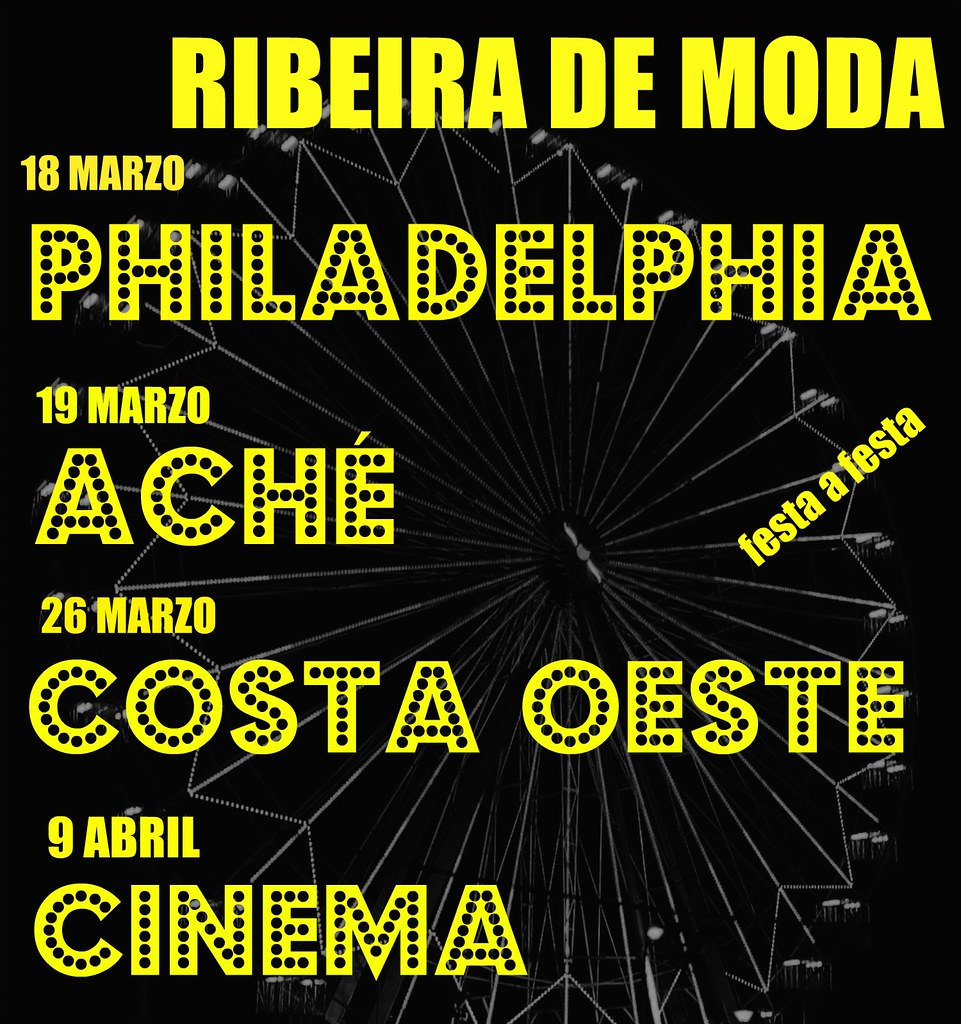 Ribeira Festa da Primavera Ribeira de Moda 2010 cartel elaboración propia