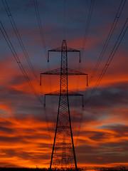 Power (DaveKav) Tags: uk greatbritain sunset england power unitedkingdom britain olympus pylon powerlines gb electricity pylons nottinghamshire edwinstowe e510 superaplus aplusphoto