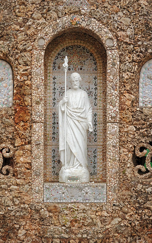Black Madonna Shrine, near Eureka, Missouri, USA - statue of Saint Joseph in grotto