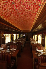 Maharajas' Express Luxury Train (India) - Restaurant (Train Chartering & Private Rail Cars) Tags: privatetrain privaterailcar chartertrain traincharter privatecharter trainchartering privatecarriage simonpielow luxurytravel luxurytrain luxurycharter luxurytrainclub indianluxurytrain maharajasexpress
