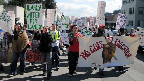 Laney College students march to downtown Oakland