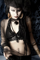 Aradia (kenneth barton) Tags: portrait art dark portland fire oakland dance model julia handmade gothic goth performance belly bellydance etsy fusion serpentine firedancer aradia botuique kennethbarton darkfusionboutique darkfusionboutiqueetsycom