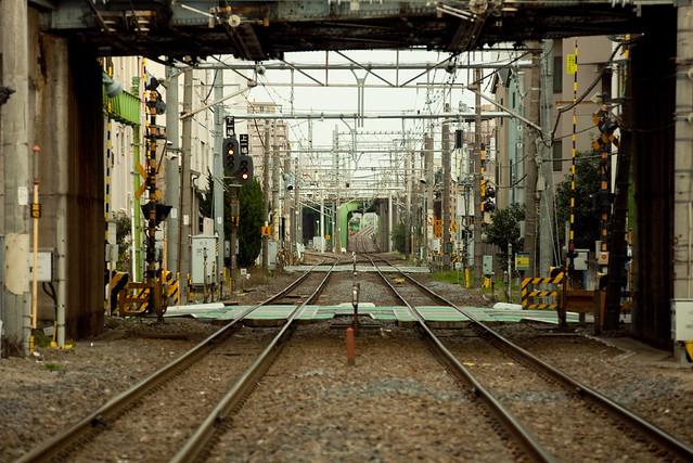 貨物路線の線路