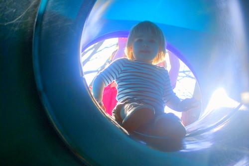 Sophie on the Slide