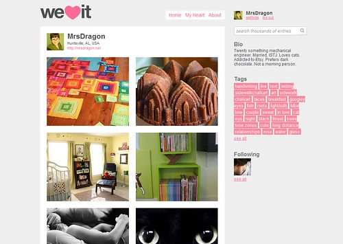 image sites like weheartit. It is similar in concept to sites like Wists. However, while Wists serve to