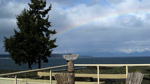 Rainbow over Denman Island