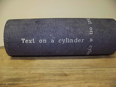 Text on a Cylinder