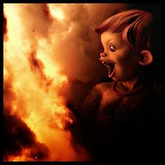 Happy Birthday (Sator Arepo) Tags: valencia fire reflex spain flames olympus explore burning burn surprise fuego frontpage e1 crema zuiko exposicion astonishment fallas ninot falles uro 50200mmed fallaexposicion retofez100330 fsuro220310280310 gettyholidays2010 gettyimagesspainq1 gettyimagesiberiaq2 gettyimagesiberiaq3 gettyimagesiberiaq12012