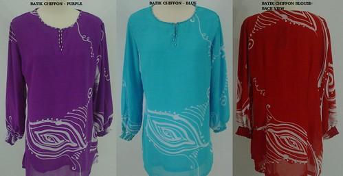 Batik Chiffon Blouse 2