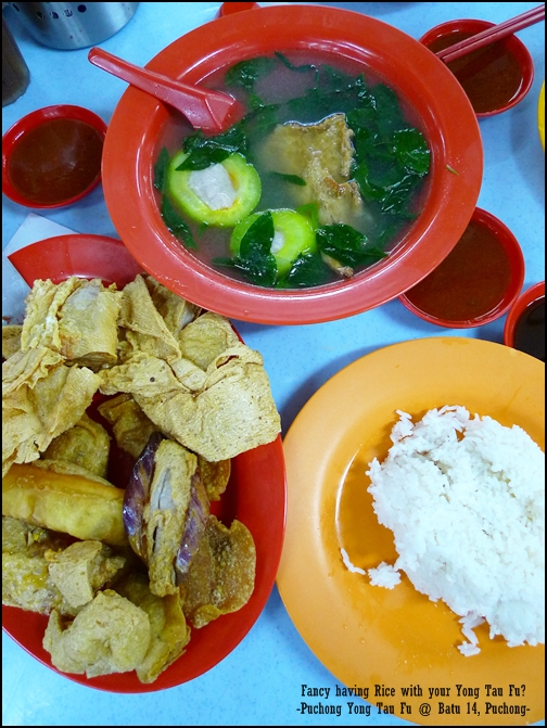 Puchong Yong Tau Foo Meal with Rice
