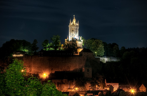 Wilhelmsturm in Dillenburg at Night