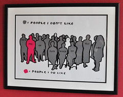 People I Like framed print (grey/pink)