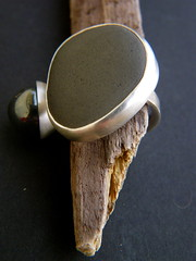 pebbles series ring 1 (hybrid handmade (Cari-Jane Hakes)) Tags: sea silver design handmade contemporary jewelry jewellery pebble bead handmadejewelry haematite silverjewellery silverjewelry beachpebble handmadejewellery contemporaryjewellery contemporaryjewelry pebblejewellery pebblejewelry
