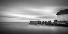 Ruin / 2:1 (Jeff Gaydash) Tags: longexposure blackandwhite water seascapes 21 greatlakes lakescapes doublesquare nd110