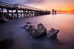 Breaking The Horizon (chris lazzery) Tags: longexposure sunrise massachusetts 5d salem canonef1740mmf4l salemwillowspark bw30nd