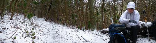 Misti snow panorama