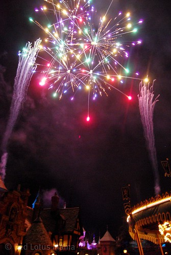 Fireworks over Fantasyland