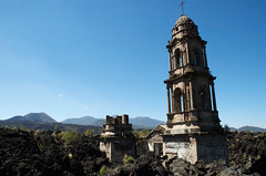 paricutin: buried church in the lava field (wishfish) Tags: mexico volcano paricutin