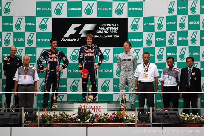 F1 Malaysian GP 2010 winners