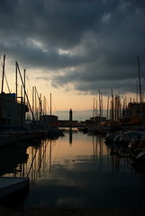 Reflection (asocialguy) Tags: sea lighthouse reflection clouds faro boats nuvole mare pentax barche trieste riflesso trst morje k200d