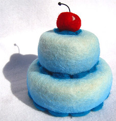 Felted Blue Cake 3