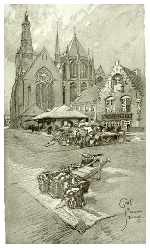 015- Mercado del pescado en Dixmude-Vanished towers and chimes of Flanders 1916- Edwards George Wharton