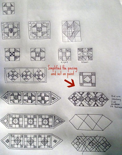 Project Quilting Sketches--Marked Up