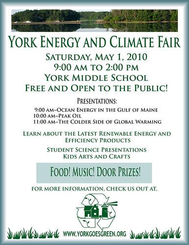 2010 Climate and Energy Fair flyer