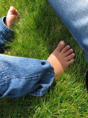 Toes in the grass