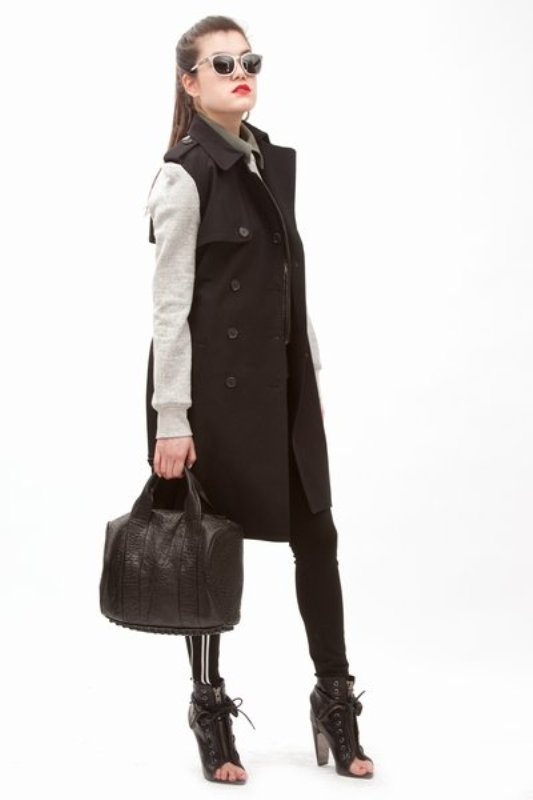 Alexander Wang sweat trench 1