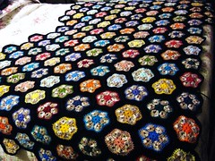 almost (forines13) Tags: hexagons crochetblanket africanflowers