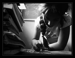 |Heart & Shadows| [Copycat * 2] V.02 (Ivn Adrin) Tags: girl sister copycat sharon books nia libros pizarra tiza ltytrx5 mygearandme