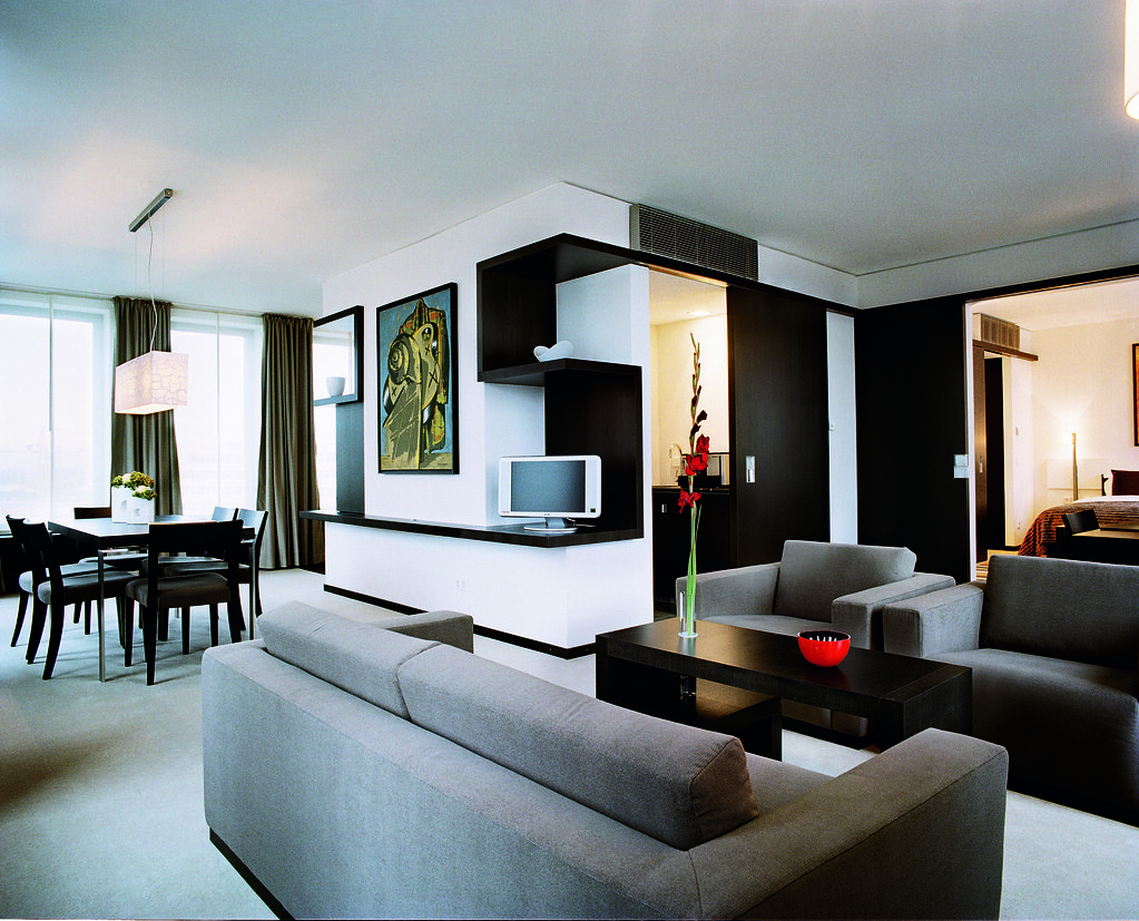 Modern high tech trendy looking executive room at the Hotel Concorde Berlin in Germany