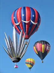 Unwelcome at any balloon fiesta (rovingmagpie) Tags: newmexico balloon albuquerque yucca aibf albuquerqueballoonfiesta foma albuquerqueinternationalballoonfiesta aluminumyucca fullmetalyucca