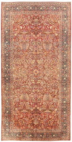 Antique Kerman Persian Rug #43709 by Nazmiyal Collection