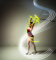 Dance Motion (Ben Canales) Tags: longexposure light ballet lightpainting painting lights dance ballerina dancing traditional dancer tights step strobe bencanales