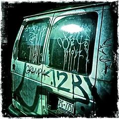 Grampa's Van (ShelSerkin) Tags: brooklyn scary toycamera horror van hipstamatic