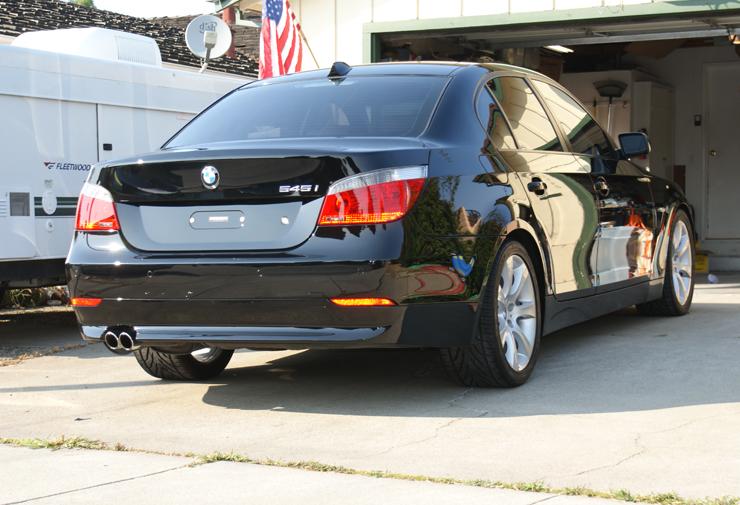 BMW 545i after polishing