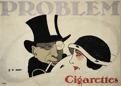 Problem Cigarrettes  (1912) (Susanlenox) Tags: woman man illustration vintage germany advertising poster essen alemania cigars 1912 monocle deustchland plakat tabaco cigarrette cartel publicitario alemn cigarrillos sachplakat hansrudierdt plakatstil problemcigarrete
