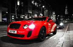 Bentley Continental Supersports (Laurens Grim) Tags: red english netherlands amsterdam photography crazy nikon sticker fotografie power grim engine continental event rims laurens 3000 bentley gumball waterlooplein sportscar horsepower 18105 supersports d90