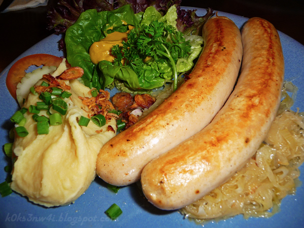 Pork Sausages with German Sauerkraut