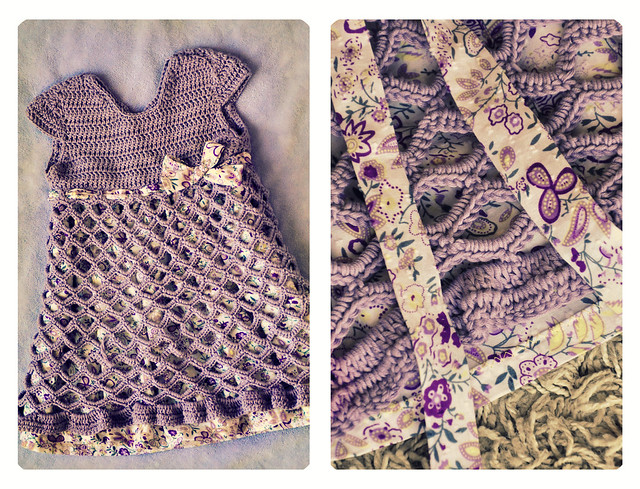Girl Dresses = knit and crocheted dress in sizes 1 and 2.