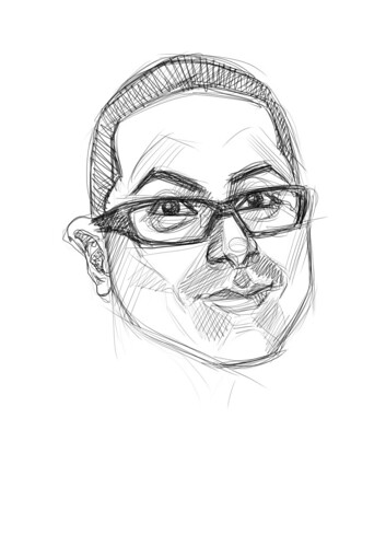 digital sketch of Moises Vargas - 1