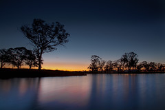 A Pond Of Colours (Sam Ili) Tags: light sunset sky sun color water silhouette canon australia canberra hdr photomatix canberrasunset 5dmarkii canon24105mm4