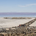 Picture of Venture Academy students at the spiral jetty at the Great Salt Lake by National Park Trust's Buddy Bison™