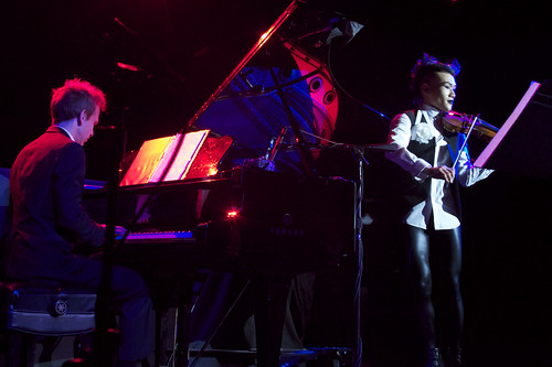 After a dramatic entrance, Hahn Bin launched into a variety of solos and a piano accompanied waltz.