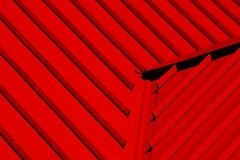 136/365 - Red Roof (dcclark) Tags: red abstract color colors lines pattern bright geometry patterns line 365 regular regularity project365 dps365