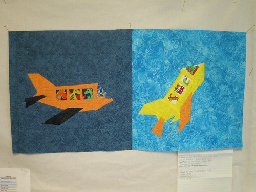 Fussy Cut Love - May blocks airplane/rocketship