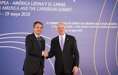 VI Σύνοδος Κορυφής της Ευρωπαϊκής Ένωσης - Λατινικής Αμερικής και Καραϊβικής - Υποδοχή από τον Πρωθυπουργό της Ισπανίας